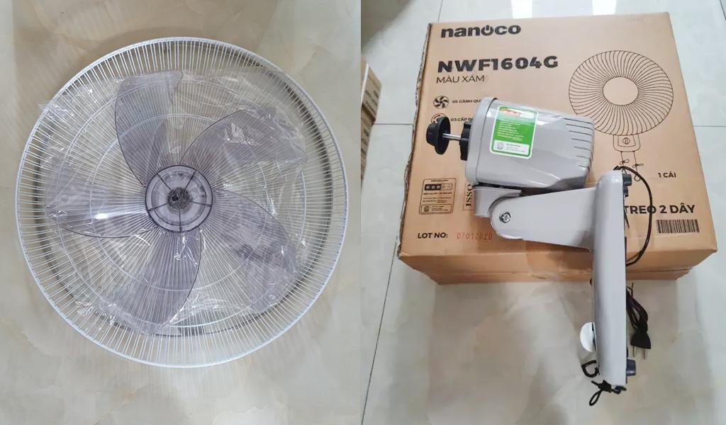 Quạt treo tường Nanoco NWF1604G